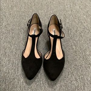 Black Suede Kitten Heel Pump